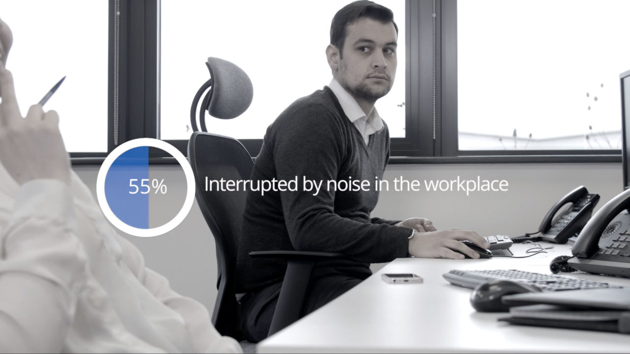 'Noise and Wellbeing at Work' Survey: Almost half of UK office workers state that noise has a negative impact on their workplace wellbeing.