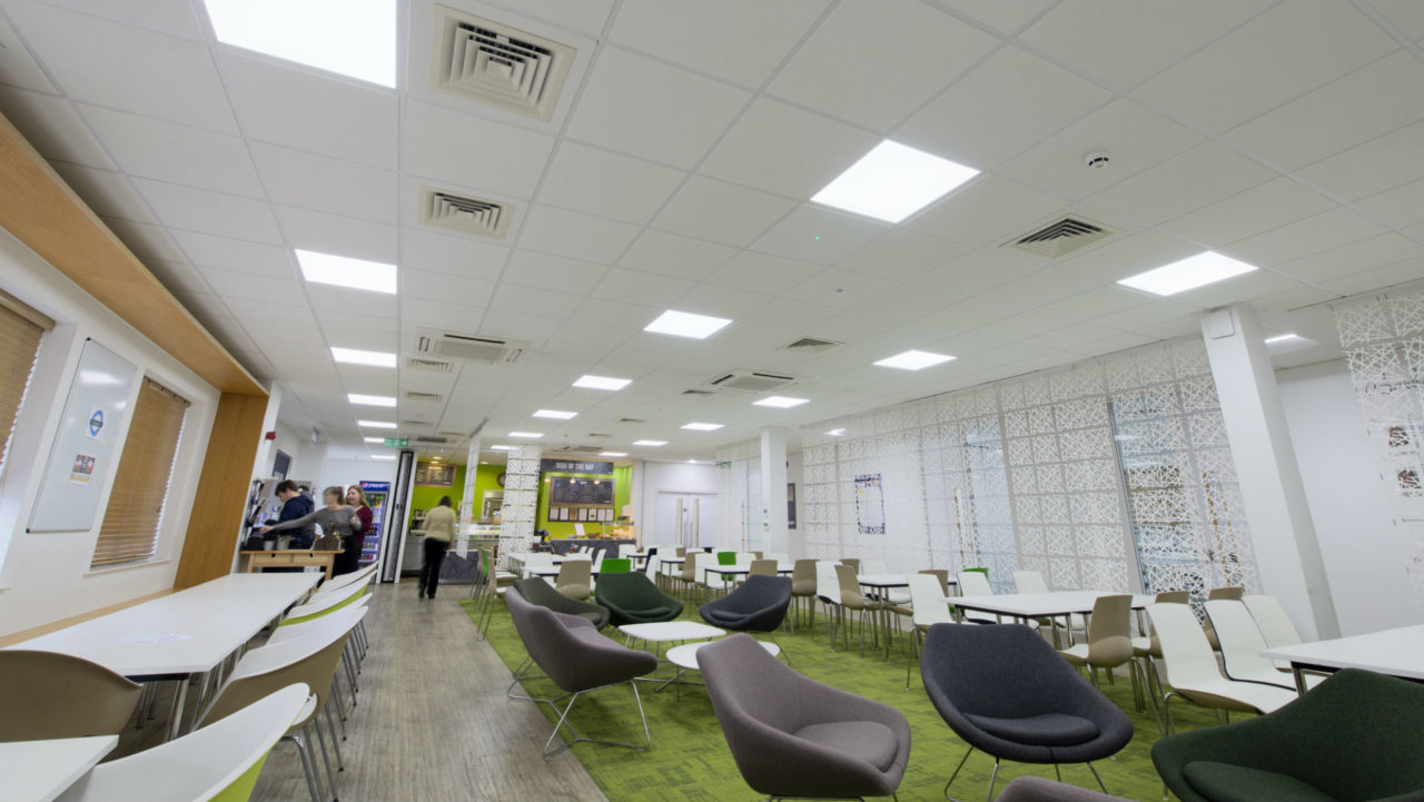 Lighting for wellbeing: An upgraded lighting solution has delivered significantly reduced eye strain and discomfort for 300 staff.