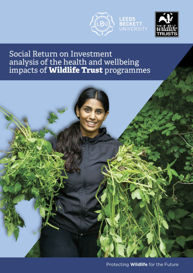 Social return on investment analysis of the health and wellbeing impacts of Wildlife Trust programmes